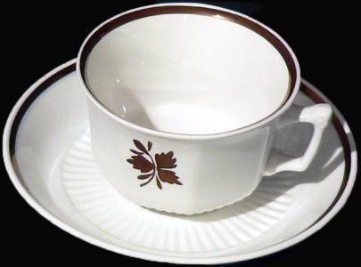 Adams - Empress Shape - Tea Leaf - Cup and Saucer