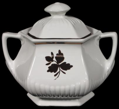 Adams - Empress Shape - Tea Leaf - Sugar Bowl