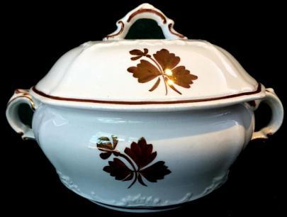 Alfred Meakin - Brocade - Tea Leaf - Butter Dish