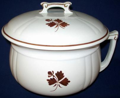 Alfred Meakin - Fishhook - Tea Leaf - Chamber Pot