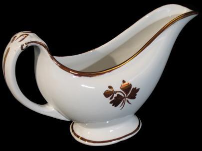 Alfred Meakin - Scroll - Tea Leaf - Gravy Boat