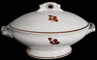 Alfred Meakin - Scroll - Tea Leaf - Vegetable Tureen