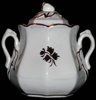 Anthony Shaw  - Chinese Shape - Tea Leaf - Sugar Bowl