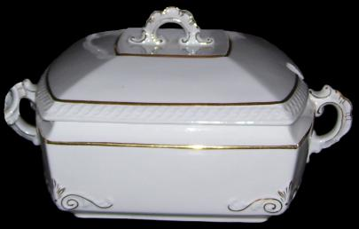 Bishop and Stonier - Golden Scroll - Lustre Band - Soup Tureen