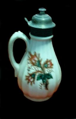 Brunt - Melon Rib - Moss Rose - Syrup Pitcher - 8.5 inch
