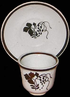 Clementson - Balanced Vine - Teaberry - Cup and Saucer (Handleless)