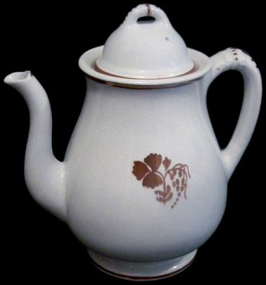 Clementson - Beaded Band - Teaberry - Teapot - 1870s