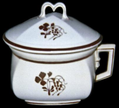 Clementson - Heavy Square - Teaberry - Chamber Pot