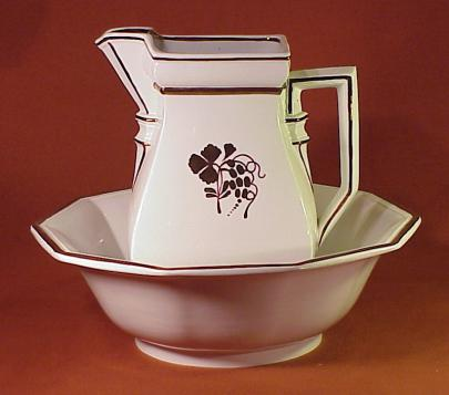 Clementson - Heavy Square - Teaberry - Ewer and Basin