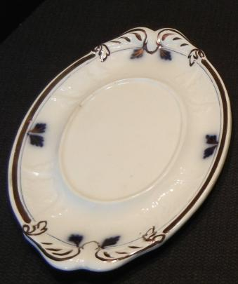 Clementson - New York Shape - Lustre Band - Sauce Undertray - Blue line and cobalt plumes