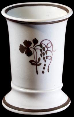 Clementson - Plain Round - Teaberry - Brush Vase