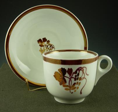 Clementson - Plain Round - Teaberry - Cup and Saucer