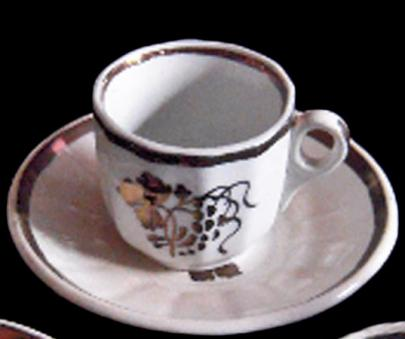 Clementson - Twelve Panel - TB - Child's Cup and Saucer