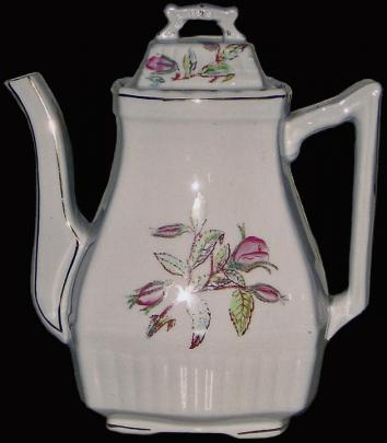 Corn - Square Ridged Square Pear - Moss Rose - Teapot