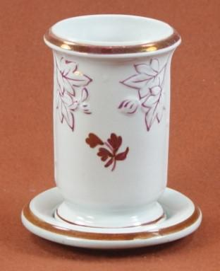William Davenport - Fig Cousin - Tea Leaf - Brush Vase and Tray