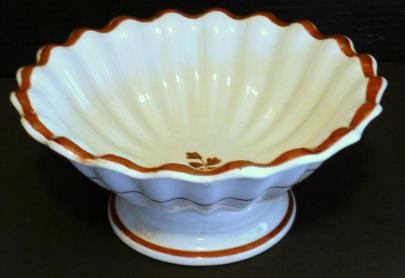 Davenport - Scalloped Rim - Tea Leaf - Apple Bowl