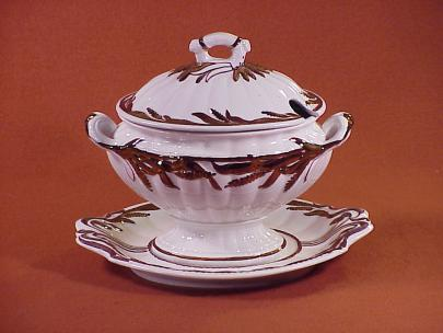 Elsmore and Forster - Ceres Shape - Lustre Band - Sauce Tureen