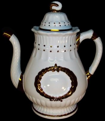 Elsmore and Forster - Laurel Wreath - Lustre Band - Coffee Pot