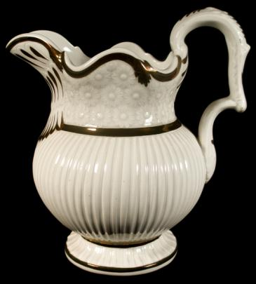 Enoch Wood -  Ribbed Daisy - Lustre Band - Pitcher