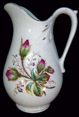 Etruria Pottery - Cable - Moss Rose - Hot Water Pitcher