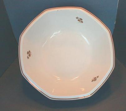 Thomas Furnival - Plain Many Sided - Tea Leaf - Wash Bowl