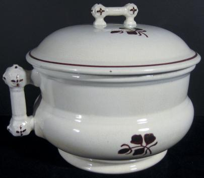 J and E Mayer - King Charles II - Tea Leaf - Chamber Pot