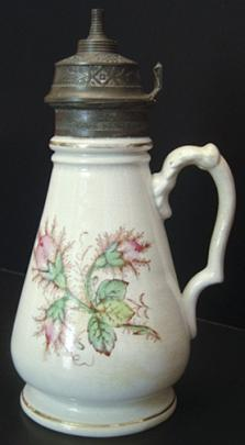 Knowles, Taylor Knowles - Plain Round - Moss Rose - Syrup Pitcher