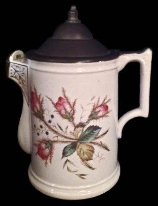 Knowles Taylor Knowles - Unknown - Moss Rose - Pitcher with Pewter Lid