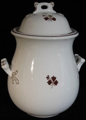 Mellor Taylor - Ribboned Round - Tea Leaf - Waste Jar