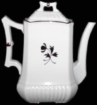 Red Cliff - Square Ridged Ribbed - Tea Leaf - Teapot
