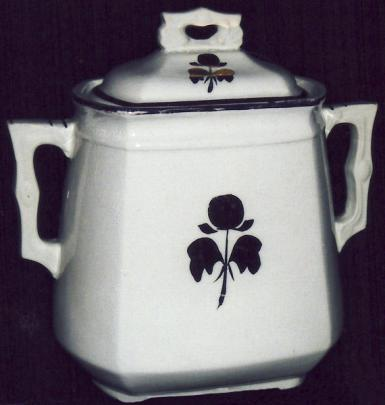 Steubenville Pottery - Simple Square Pagoda - Tea Plum - Sugar Bowl