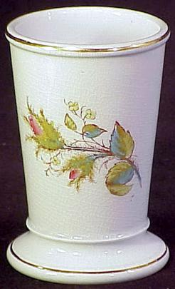 T Pottery Works - Plain Round - Moss Rose - Brush Vase