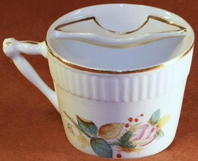 Unknown - Embossed Ridges - Moss Rose - Mug Mustache