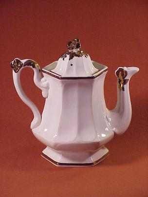 T J & J Mayer - Prize Bloom - Lustre Band - Teapot