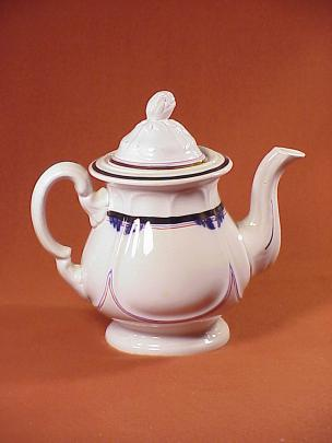 Attrib. Jacob Furnival - Quartered Rose - Lustre Band - Teapot