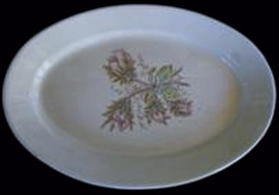 Wallace & Chetwynd - Plain Round - Moss Rose -  Platter