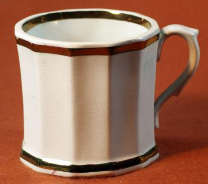 Walley - Full Panelled Gothic - Lustre Band - Mug Shaving