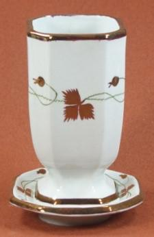 Walley - Niagara Shape - Pre-Tea Leaf - Brush Vase and Tray