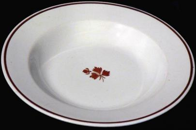 Wedgwood - Plain Round - Tea Leaf - Soup Plate