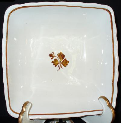 Wedgwood - Scalloped Rim - Tea Leaf - Bowl - Square