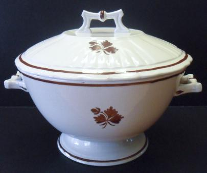 Wedgwood - Square Ridged Ribbed - Tea Leaf - Bowl (Posset)