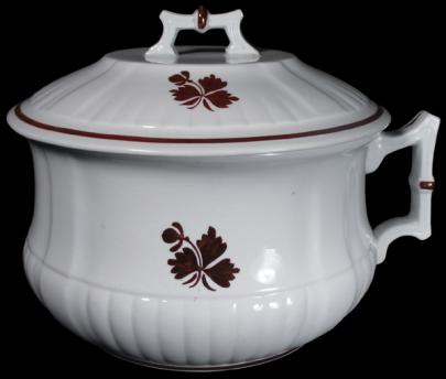 Wedgwood - Square Ridged Ribbed - Tea Leaf - Chamber Pot