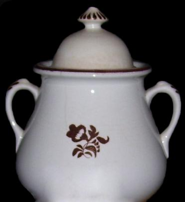 Wileman - Richelieu Shape - Morning Glory - Sugar Bowl