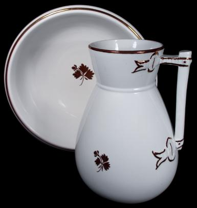 Wilkinson Late R. Alcock - Bow Knot - Tea Leaf -  Ewer Basin Bowl