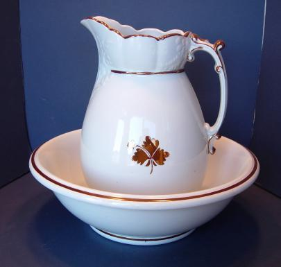 Wilkinson - Maidenhair Fern - Tea Leaf - Ewer and Basin