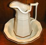 Walley - Classic Gothic - Lustre Band - Ewer and Basin / Bowl